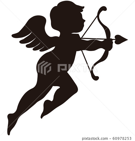 Valentine Cupid Love Angel Silhouette Shadow Picture 60978253