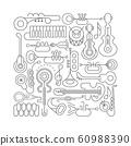 Music Instruments Line Art 60988390