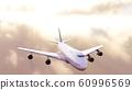飛機太陽背景 60996569