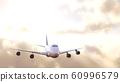 飛機太陽背景 60996579