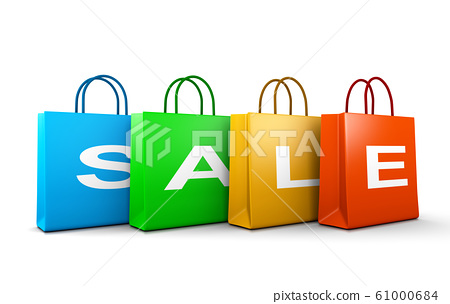 Sale Text Word on Shopping Bags 61000684