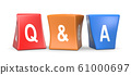 Question and Answer Concept Funny Cubes 61000697
