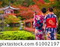 Daigo-ji temple with colorful maple trees 61002197