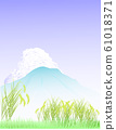 Countryside, rice, landscape 61018371
