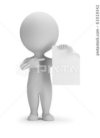 3d small people - indicates a blank sheet 61019342