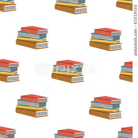 book of stack seamless vector pattern 61019588