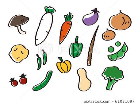 蔬菜手寫樣式集 61021097