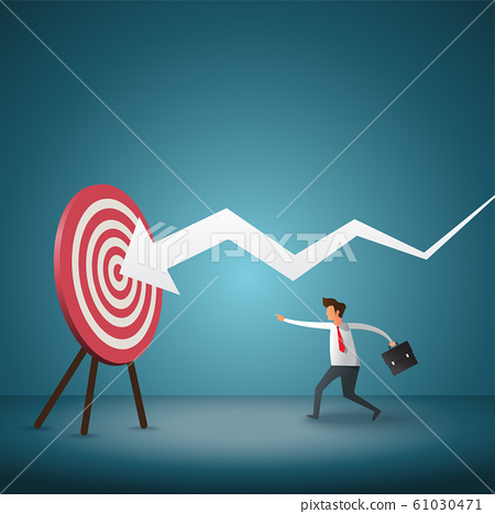 Business objective and strategy. business concept. 61030471