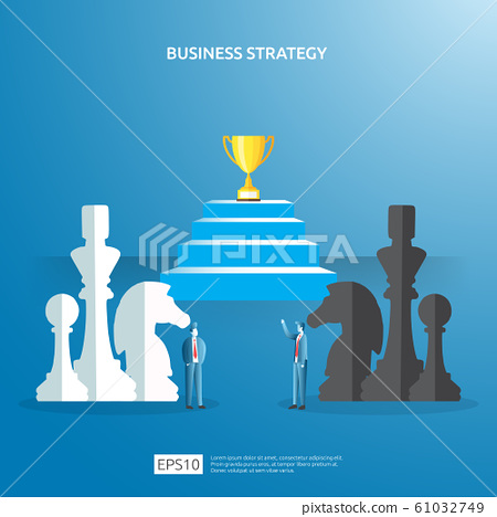 Business concept for competition strategy. winning 61032749