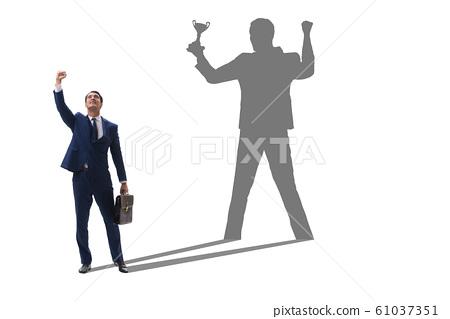 Businessman in great achievement concept 61037351