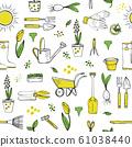 Spring garden seamless pattern. 61038440