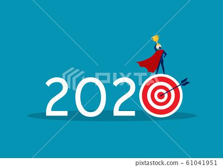 2020 business target goal with hope get big reward concept vector 61041951