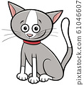 funny cat or kitten cartoon animal character 61046607