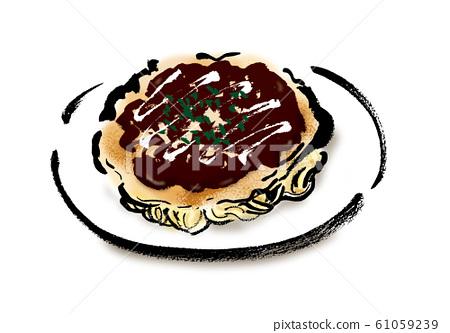 插圖素材,手繪,毛筆書寫,手寫,麵粉,現代烤製,禦好燒,現代烤製,毛筆劃,海藻, 61059239