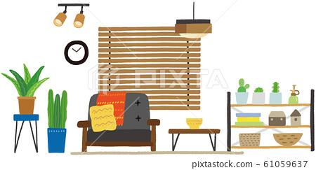 复古风格的室内生活 61059637