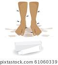 bad smell foot  vector design 61060339