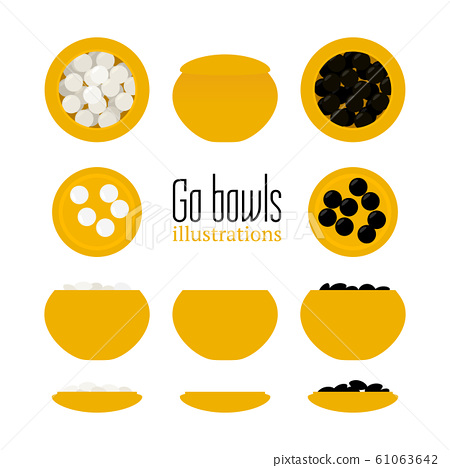 Vector illustration of bowls with stones 61063642