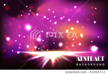 Abstract purple light particles background 61064712