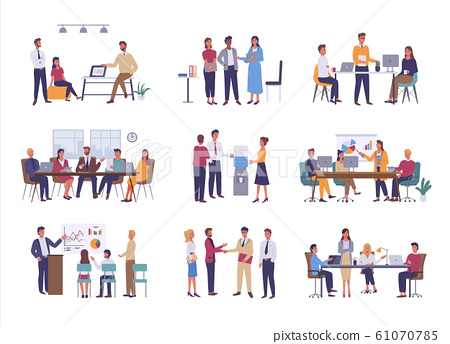 Office Business Meeting, Teamwork or Team Building 61070785