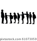 children and teacher together, silhouette vector 61073059
