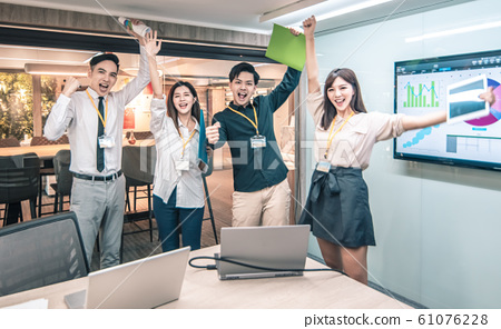 success and happy Business people  in conference  61076228