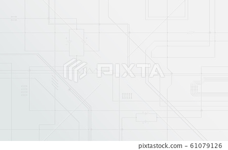 Abstract circuit board pattern on white background. Technology concept. Vector illustration 61079126
