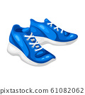 Illustration of blue sneakers. 61082062