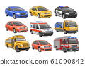 Vector set of Cars 61090842