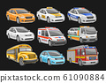 Vector set of Cars 61090884