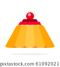 Jelly cake vector flat material design object. Isolated illustration. 61092021