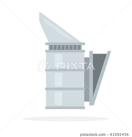 Smoker in beekeeping vector flat material design isolated object on white background. 61092456