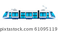 Ground public train vector flat isolated 61095119