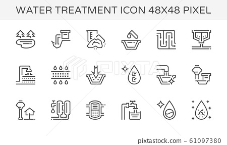 water treatment icon 61097380