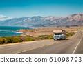 Recreational vehicle on Highway 1, California, USA 61098793