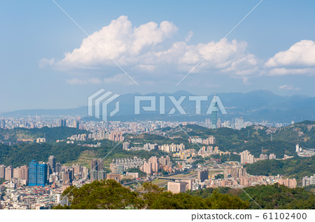 台北市天際,大都會區,全景 61102400