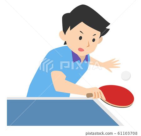 乒乓球運動員男孩 61103708