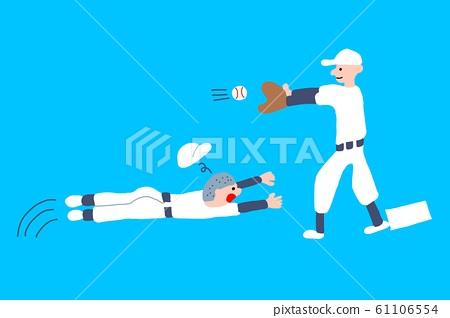 야구를하는 사람 일러스트 61106554