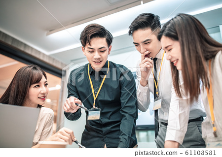 Business people meeting in conference  room 61108581