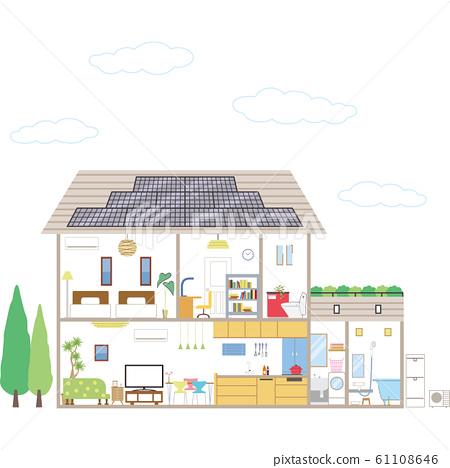 태양 광 발전의 집 61108646