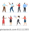 Freelancers, Bloggers People Character of Flat Set 61111393