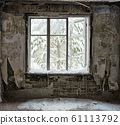 ruin interior with window 61113792