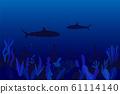 Underwater ocean flora and fauna background. 61114140