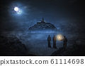 Night Scene with Clergymans 61114698