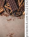 Dark chocolate with cocoa 61123162