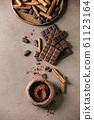 Dark chocolate with cocoa 61123164