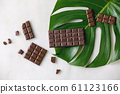 Dark chocolate with cocoa 61123166
