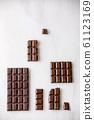 Dark chocolate with cocoa 61123169