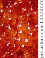 Close up of red caviar 61123173