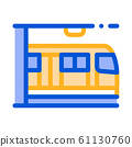 Public Transport Metro Vector Thin Line Sign Icon 61130760