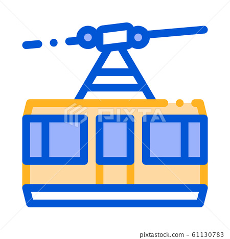 Public Transport Aerial Lift Vector Thin Line Icon 61130783